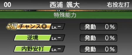 プロスピA西浦颯大選手の特殊能力