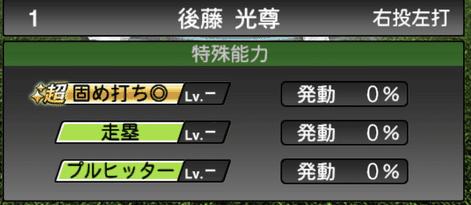プロスピA後藤光尊選手の特殊能力