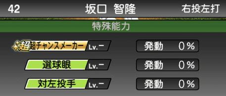 プロスピA坂口智隆2019シリーズ1の特殊能力評価