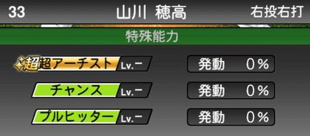 プロスピA山川穂高2019シリーズ1の特殊能力評価