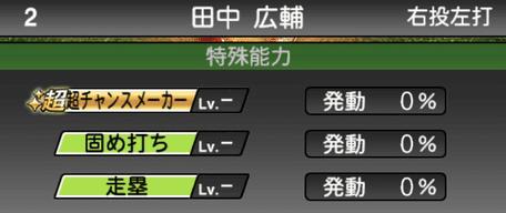 プロスピA田中広輔2019シリーズ1の特殊能力評価