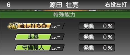 プロスピ源田壮亮2019シリーズ1の特殊能力評価