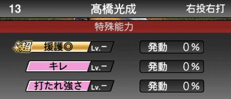 プロスピA高橋光成2019年シリーズ1の特殊能力評価