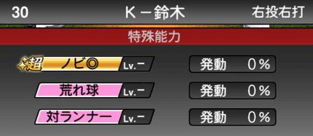 プロスピAK-鈴木2019年シリーズ1の特殊能力評価