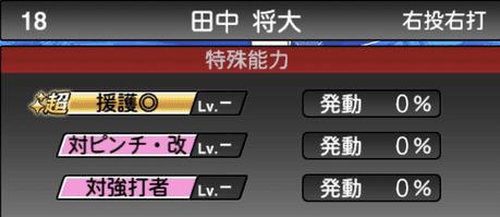 プロスピA2019シリーズ2ワールドスターセレクション田中将大の特殊能力