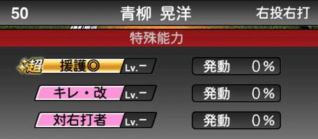 プロスピA青柳晃洋2019シリーズ2の特殊能力