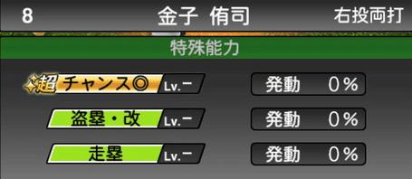 プロスピA金子侑司シリーズ2の特殊能力評価