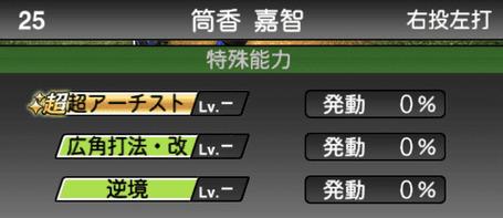 プロスピA筒香嘉智シリーズ2の特殊能力評価