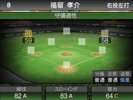 プロスピ福留孝介2019シリーズ2の守備評価