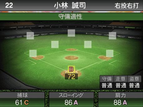 プロスピ小林誠司2019シリーズ2の守備評価