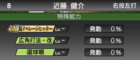 プロスピA近藤健介シリーズ2の特殊能力評価