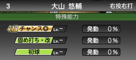 プロスピA大山悠輔シリーズ2の特殊能力評価