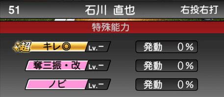 プロスピA石川直也2019シリーズ2の特殊能力