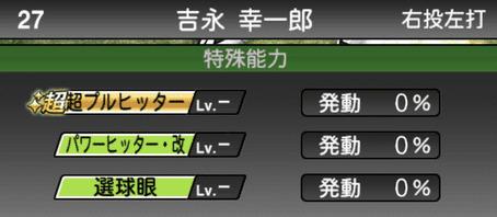 プロスピA吉永幸一郎2019OBシリーズ2の特殊能力評価