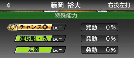 プロスピA藤岡裕大シリーズ2の特殊能力評価