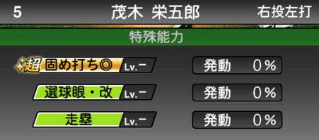 プロスピA茂木栄五郎シリーズ2の特殊能力評価