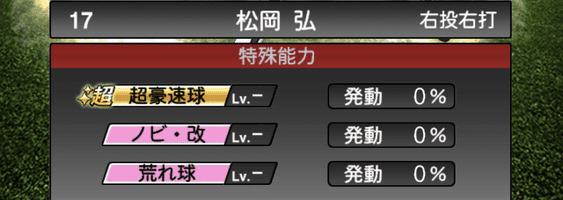 プロスピA松岡弘2019シリーズ2の特殊能力