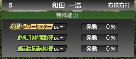 プロスピA和田一浩2019OBシリーズ2OB第5弾の特殊能力評価