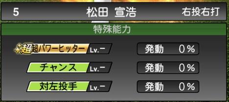 プロスピA松田宣浩2020シリーズ1の特殊能力評価