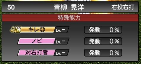 プロスピA青柳晃洋2020シリーズ1の特殊能力