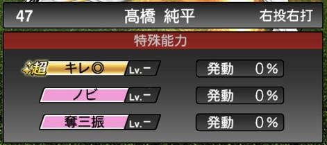 プロスピA高橋純平2020シリーズ1の特殊能力