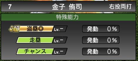 プロスピA金子侑司2020シリーズ1の特殊能力評価