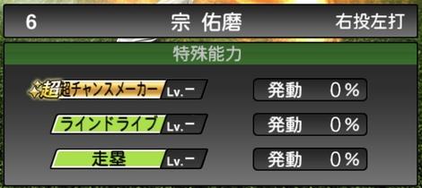 プロスピA宗佑磨2020シリーズ1の特殊能力評価