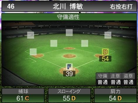 プロスピATS北川博敏2020シリーズ1の守備評価