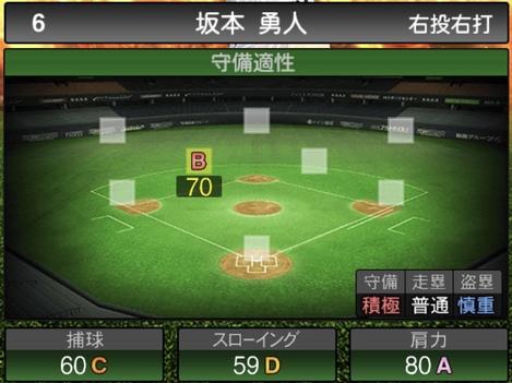 プロスピA坂本勇人2020シリーズ1の守備評価
