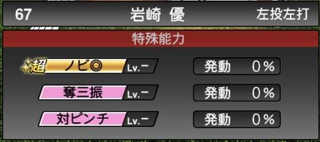 プロスピA岩崎優2020シリーズ1の特殊能力