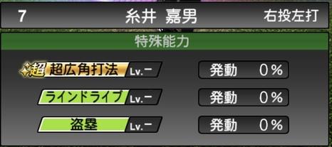 プロスピATS糸井嘉男2020シリーズ1の特殊能力評価