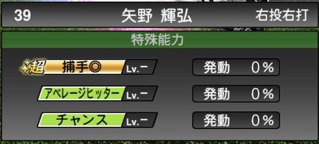 プロスピATS矢野燿大2020シリーズ1の特殊能力評価