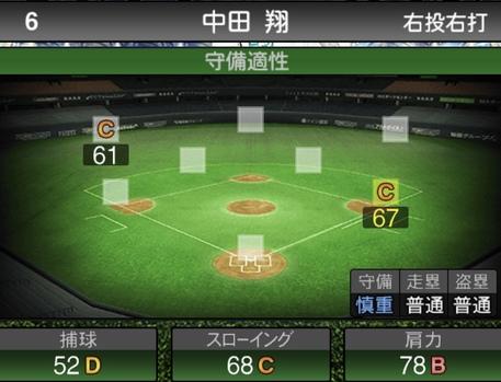 プロスピAセレクション中田翔2020シリーズ1の守備評価