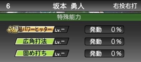 プロスピAセレクション坂本勇人2020シリーズ1の特殊能力評価