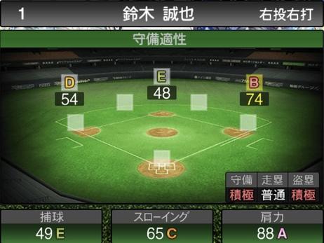 プロスピAセレクション鈴木誠也2020シリーズ1の守備評価