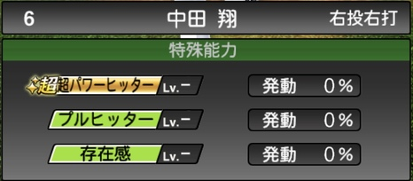 プロスピA中田翔2020シリーズ1の特殊能力評価