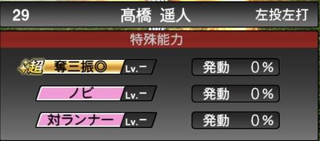 プロスピA髙橋遥人2020シリーズ1の特殊能力