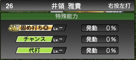 プロスピA井領雅貴2020シリーズ1の特殊能力評価