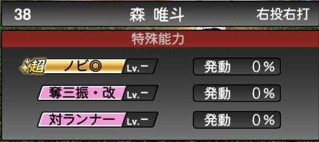 プロスピA森唯斗2020シリーズ2の特殊能力