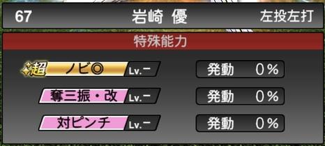 プロスピA岩崎優2020シリーズ2の特殊能力