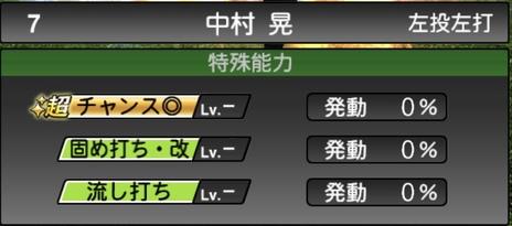 プロスピA中村晃2020シリーズ2の特殊能力
