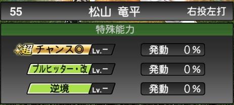 プロスピA松山竜平2020シリーズ2の特殊能力