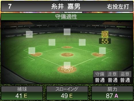 プロスピA糸井嘉男2020シリーズ2の守備評価