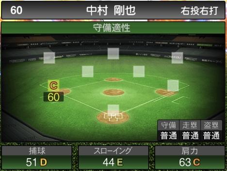 プロスピA中村剛也2020シリーズ2の守備評価