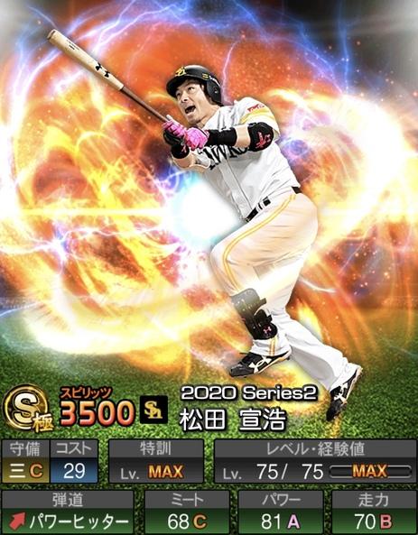 プロスピA松田宣浩2020シリーズ2の評価