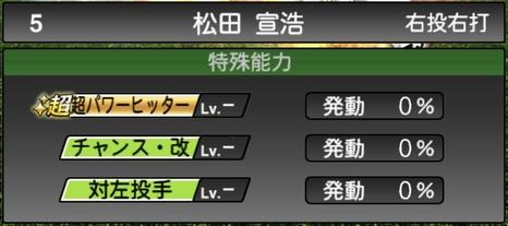 プロスピA松田宣浩2020シリーズ2の特殊能力