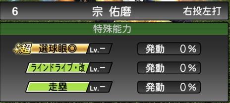 プロスピA宗佑磨2020シリーズ2の特殊能力
