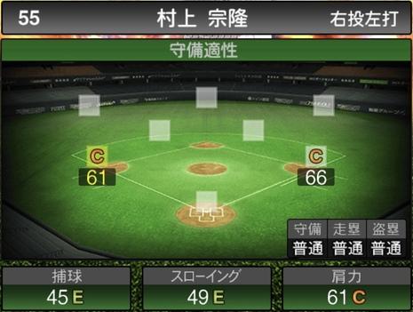 プロスピA村上宗隆2020シリーズ2の守備評価