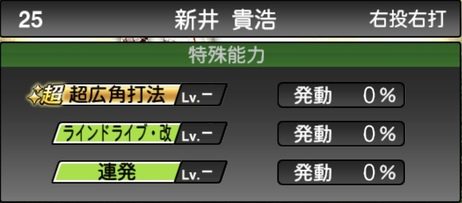 プロスピA新井貴浩2020シリーズ2の特殊能力