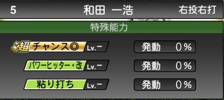 プロスピA和田一浩2020シリーズ2の特殊能力